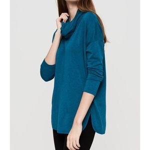 Lou & Grey • Blue SignatureSoft Cowl Tunic Sweater